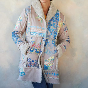 NWT Johnny Was Steppe sherpa coat